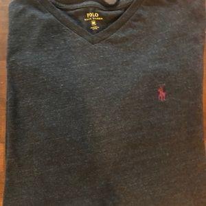 Polo Ralph Lauren long sleeve vneck shirt M